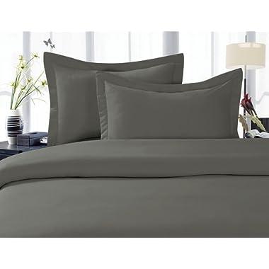 Elegant Comfort 1500 Thread Count Egyptian Quality Super Soft Wrinkle Free 4-Piece Sheet Set, California King, Gray