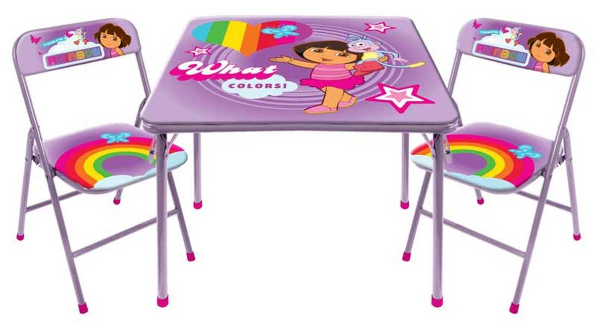 Amazon.com: Dora the Explorer Square Table and Chair Set: Toys & Games