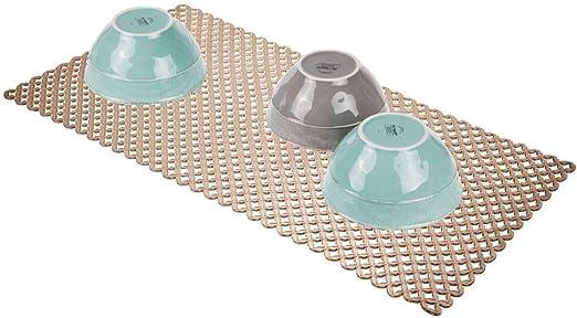 Alfombrilla para el Fregadero Transparente Rejilla Fregadero para su Cocina en PVC mDesign Protector Fregadero