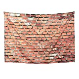 Sunmner Tapestry Wall Tapestry Marble Tapestry Brick Slate Stone Wall with Rocks Abstract Home Decor Tapestry Wall Hanging for Bedroom Living Room Dorm (Vintage Brick, 59.1'' x 82.7'')