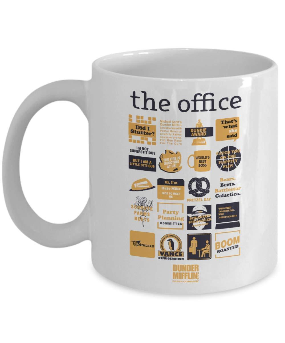 Amazon Com The Office Quote Mash Up Funny 11 Oz Coffee Mug