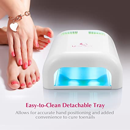 Nail Dryer, USpicy MACARON 36W Nail Dryer UV Lamp/ Light Upgraded with Sliding Tray & Timer Setting