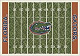 Milliken 4000018744 Florida College Home Field Area Rug, 10'9'' x 13'2'', 01500 Home Field