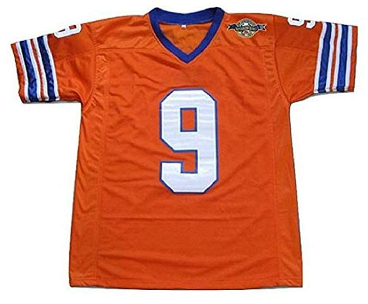 borizcustoms Adam Sandler Bobby Boucher The Waterboy Mud Dogs Football Jersey with Bourbon Bowl Patch