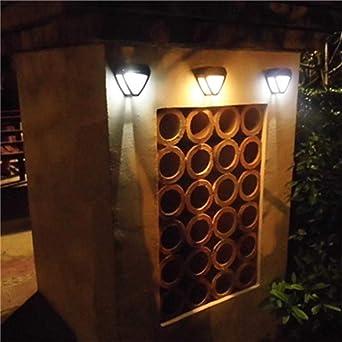 Liquidación! WATOPI - Luces solares decorativas para jardín, luces solares impermeables inalámbricas para exteriores, para patio, valla, jardín, garaje, escalera, puerta, pared: Amazon.es: Iluminación
