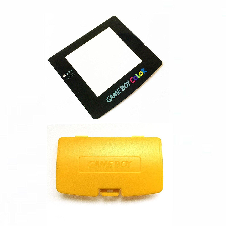 Gelb Akku Schutzhü lle & Objektiv fü r Game Boy Color GBC System Ersatz (mit Rü ckseite selbstklebend) Perfect Part