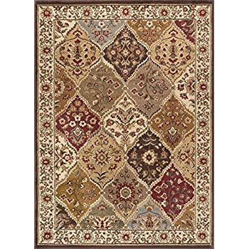 universal rugs 105120 multi 5x7 area rug 5 feet by 7 feet home kitchen. Black Bedroom Furniture Sets. Home Design Ideas