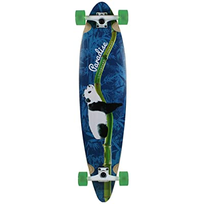 "Paradise Longboard Complete Bamboo Lazy Panda 9.75"" x 41"" : Sports & Outdoors"