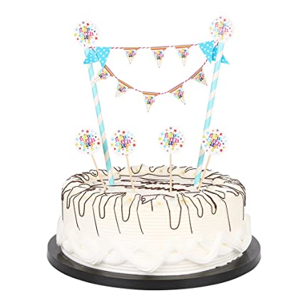 Amazon Happy Birthday Cake Bunting Topper Garland