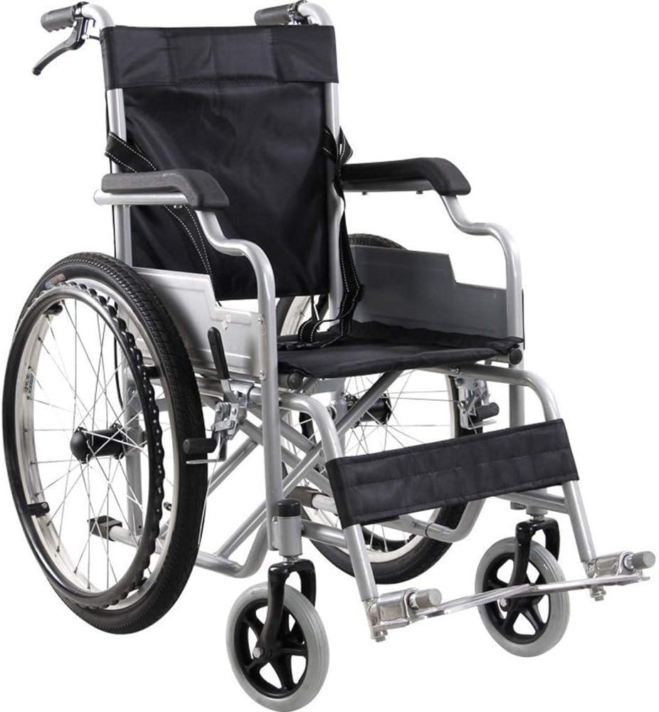 Luckya 車いす 車椅子 障害者 高齢者 介護・介助兼用 人間工学車椅子軽量14キロ折り畳み式の交通医療快適なアームレスト背もたれシートスイングレッグレスト100キロロードベアリング38×40CM席身体障害者、ブラック 旅行用 外出用 母の日 父の日 敬老の日 プレゼント