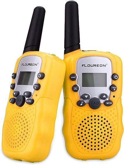 FLOUREON Handheld 22CH Walkie Talkies UHF462-467MHz 2-Way Radio 3KM Interphone
