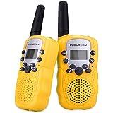 Walkie Talkie for Kid FLOUREON Walkies Talkies 22 Channel Two Way Radios Long Range Outdoor Walkie Talky (Yellow)
