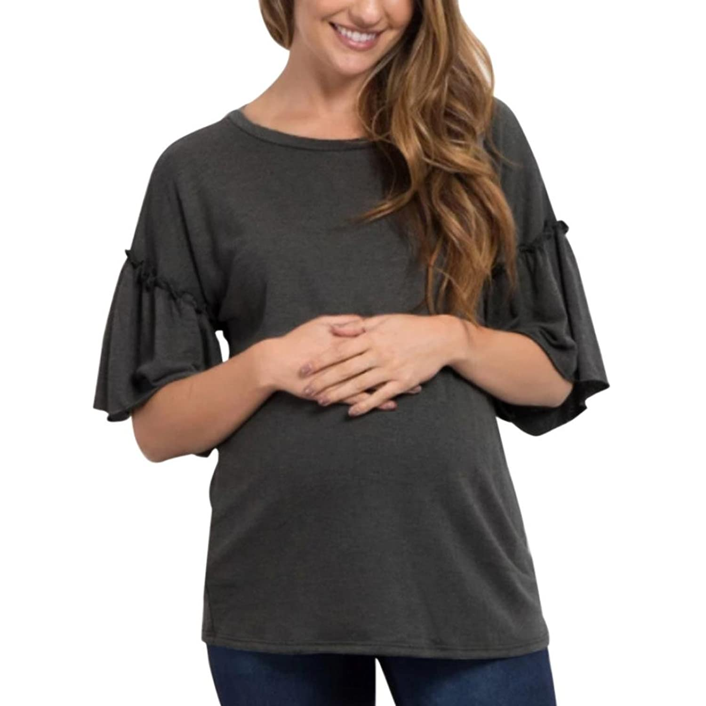 1a9a043c906e LUCKDE Maternity Top, Schwangerschaft Top T-Shirt Damen ...