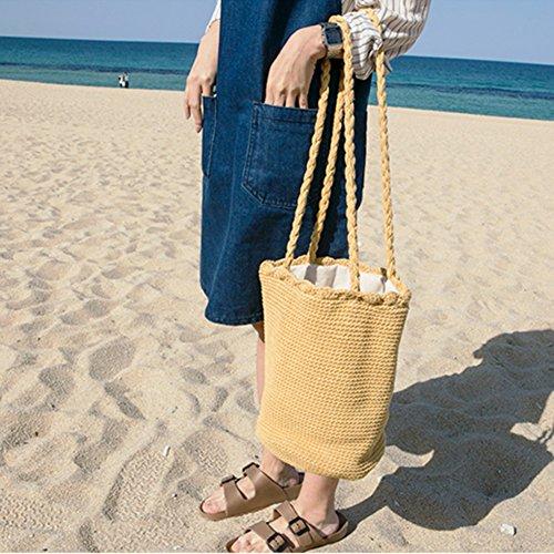 5 Della Rattan Spiaggia Elegante Di La Stile Intrecciato Vacanza Sacchetto Conchiglia Forma Estate A Moda 6RUZq7xw