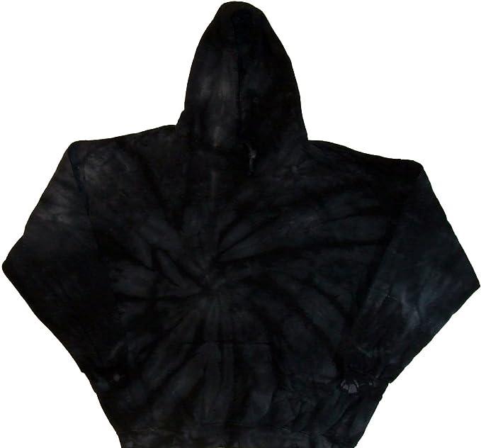 Amazon.com: Tie Dyed tienda Negro Espiral Pullover Tie Dye ...
