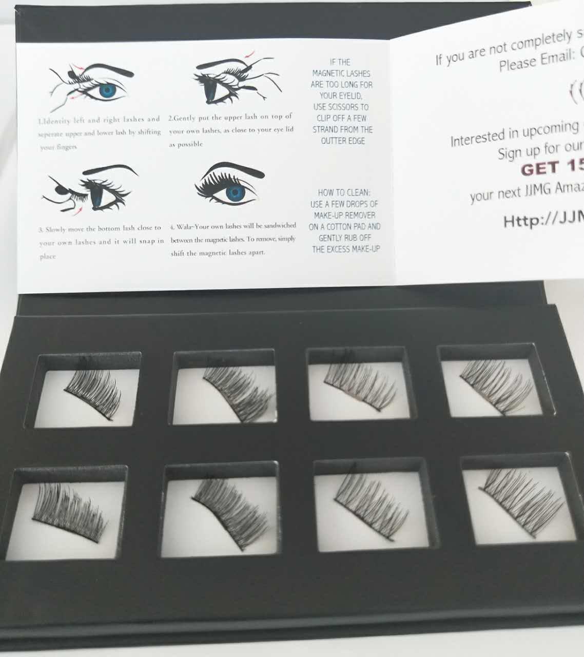 Amazon Jjmg New Magnetic False Accent Eyelashes Ultra Light
