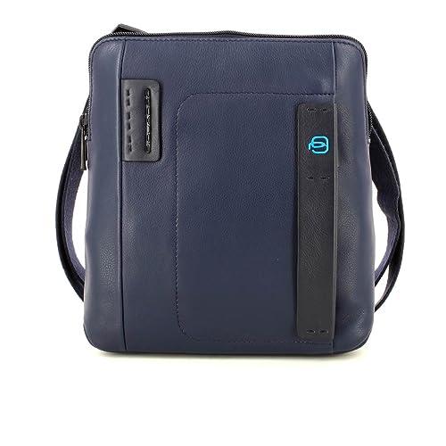 43cd3f6788 Piquadro Pulse Borsello, Pelle, Blu, 26 cm: Amazon.it: Valigeria