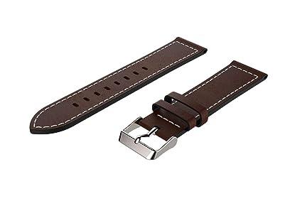 Vamoro Ersatz-Lederarmband-Armband für Samsung Galaxy Watch 46mm Lederband Ersatz Uhren-Armband Ersatzband Watch Band