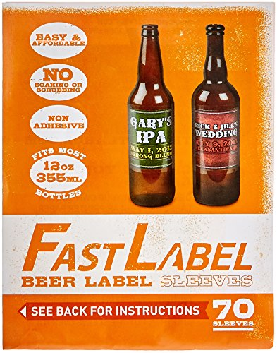 FastLabel Fermentation Accessories - Standard 12oz Beer Bottle labels - Never scrub a bottle again brought to you by FastFerment ()