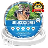 Life Accessories Dog Flea Collar, 8 Months Protection, Hypoallergenic, Made from Natural Plant Extracts, Adjustable for, Dog Pest Control, Special Waterproof Design, Bio Pet Pest Control By