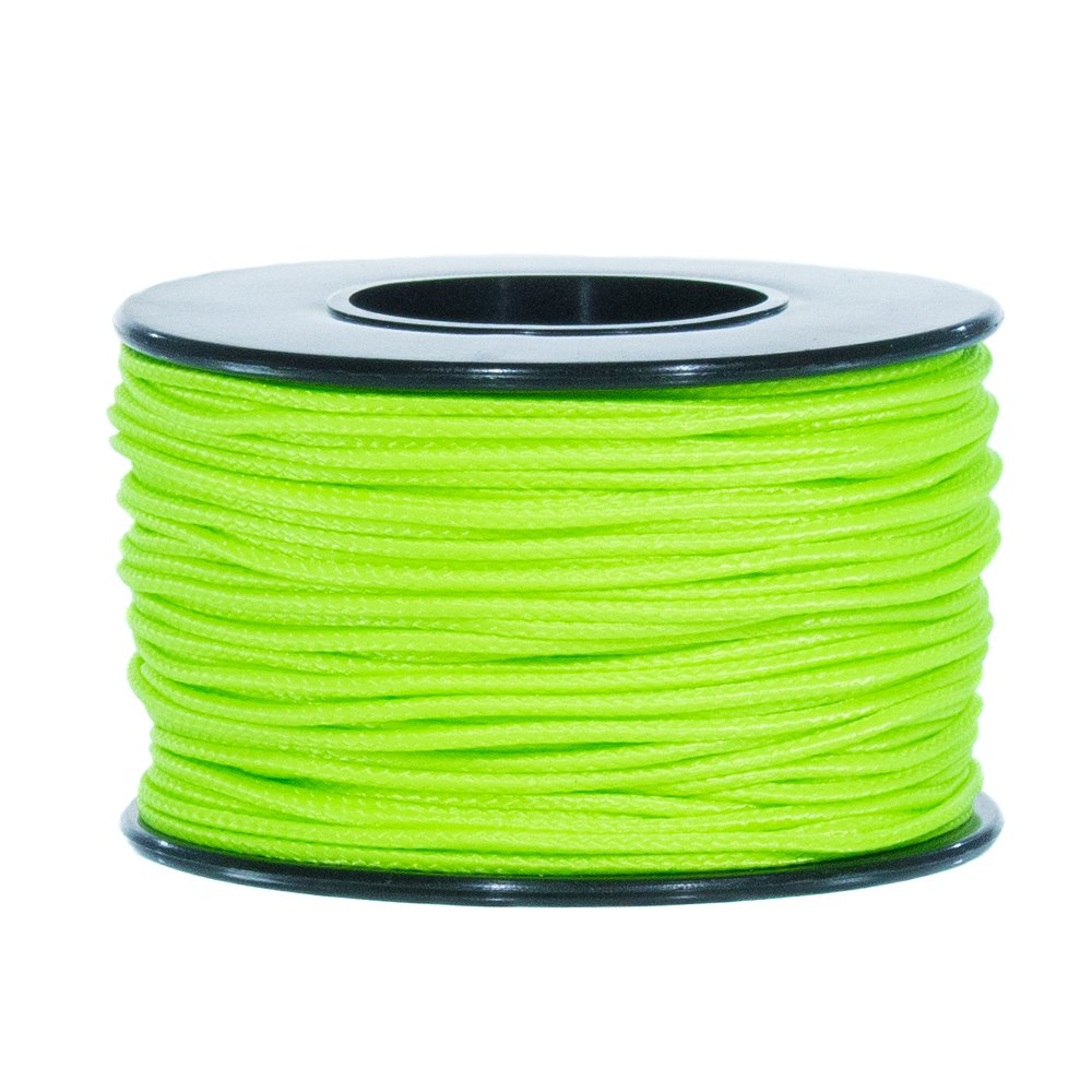 Atwood Mobile Products Micro Sport Cord 1.18mm X 125 Ft Small Spool Lightweight Braided Cord (Neon Green)