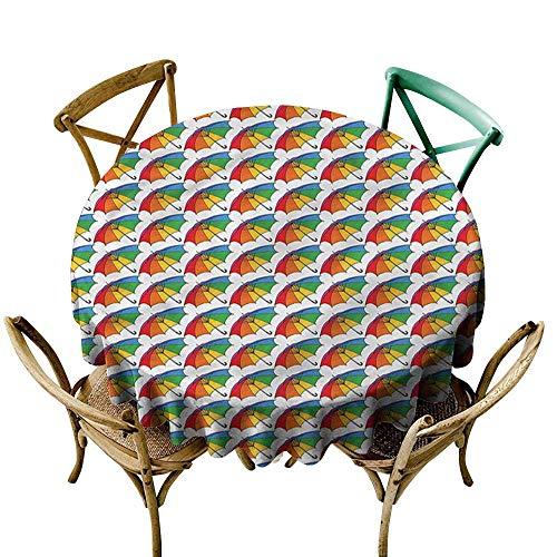 HeKua Umbrella,Natural Tablecloth Rainbow Colored Canopy D 70