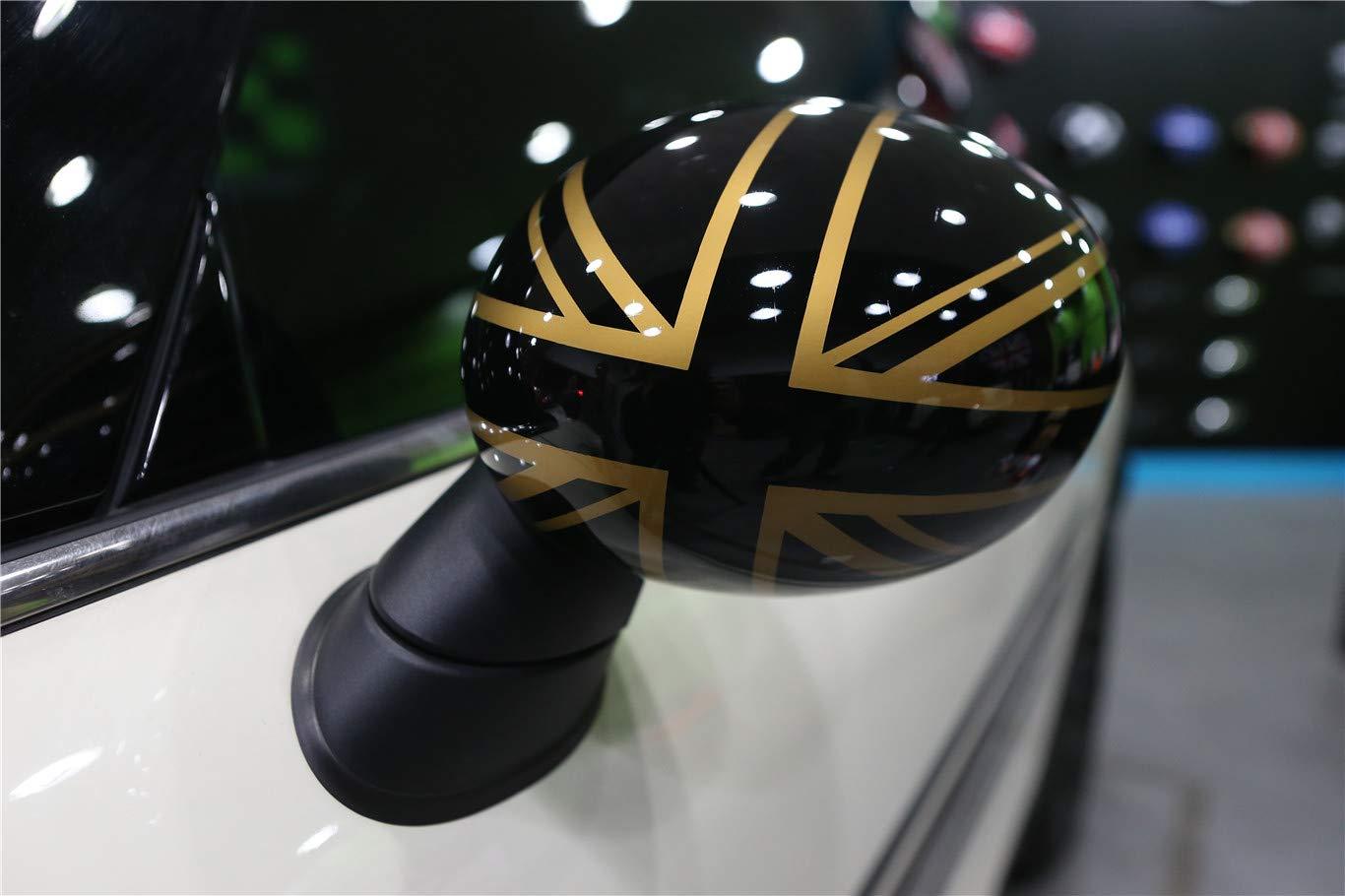 HDX Casquette pour r/étroviseur lat/éral JCW John Cooper Works en ABS pour Mini Cooper S/érie F F54 Clubman F55 Hardtop F56 Hatchback F57 Covertible F60 Countryman