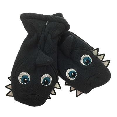 CP Infant Boys Gray Blue Microfleece Shark Mittens