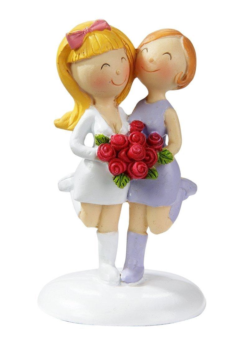 Amazon De Lesbisches Hochzeitspaar Frauen Brautpaar 9 Cm Polyresin