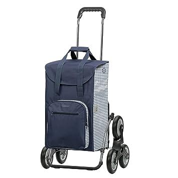 49b1f50bfc25c Andersen Einkaufstrolley Royal als Treppensteiger und 45 Liter  Einkaufstasche Dante blau weiß mit Kühlfach Einkaufswagen