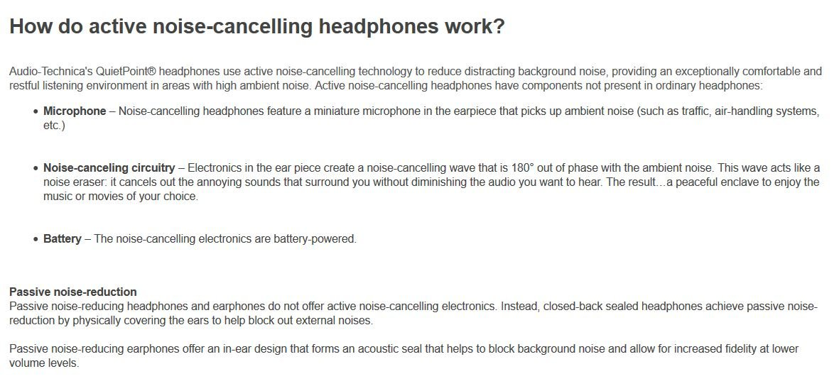 Audio Technica ATH-ANC9 QuietPoint Noise-Cancelling Headphones by Audio-Technica
