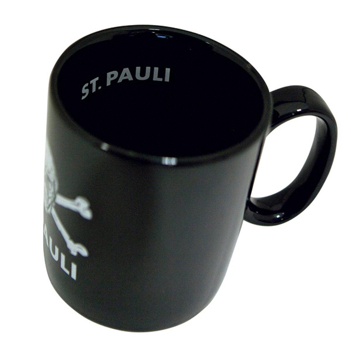 FC St Pauli 3er Set Kaffeebecher Becher Totenkopf Becher Logo Streifen Jumbobecher Logo FCSP Fanergy Traubenzucker