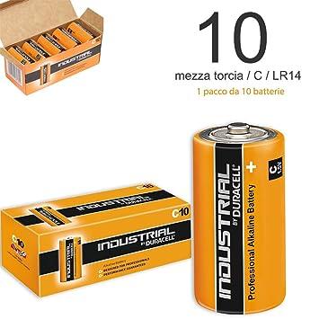 Pilas Duracell Industrial Media Linterna - C LR14 alcalinas Pila Alta Capacidad - Paquete DE 10: Amazon.es: Electrónica