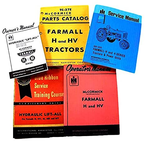 Amazon.com: Farmall H HV Tractor Service, Parts and Operators Manuals for  Chassis, Engine, Hydraulics Lift-All, Engine Repair and More For Shop and  Field Use: Industrial & ScientificAmazon.com