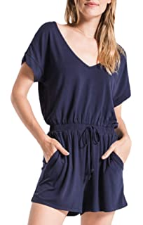 a03babd0799 Amazon.com  Z Supply ZS191700 The Blaire Sleek Jersey Romper in ...