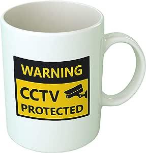 كوب قهوة محمي من Upteetude CCTV - أبيض