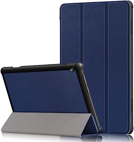 Funda para Lenovo Tab M10 Funda TB-605F TB-605L TB-505F Tablet Cuero Smart 10.1 Pulgadas Slim Stand Shll Skin Estuche Plegable magnético-Azul: Amazon.es: Informática