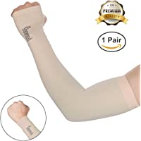 SHINYMOD UV Protection Cooling Arm Sleeves for Men Women Sunblock Cooler Protective Sports Running Golf Cycling Basketball Driving Fishing Long Arm Cover Sleeves