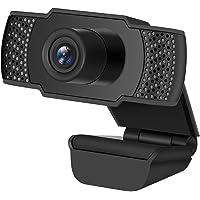 Cámara web HD 1080P, Enow cámara web de transmisión en vivo de video digital con micrófono, cámara de computadora USB…