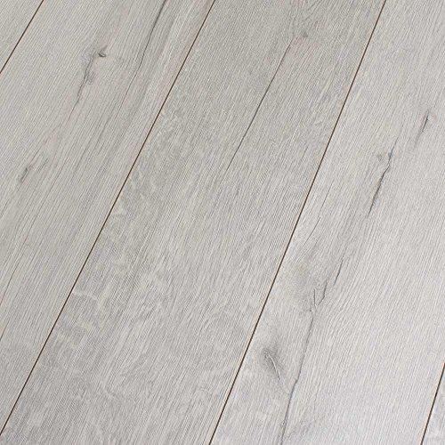 Kronotex Robusto Rip Oak White 12mm Laminate Flooring SAMPLE
