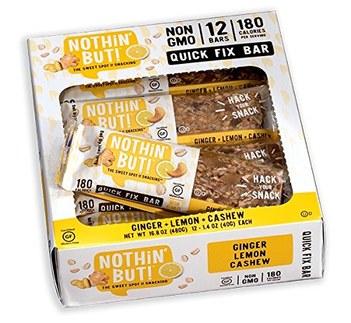Nothing But Nuts - Nothin' But Snack Bar, Ginger Lemon Cashew, 12 Count