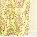 Urban Outfitters Curtains Ankit Premium Heavy-Duty Hamsa Bathroom Shower Curtain 70 X 70 Inch polyester shower curtains shower curtain liner bathroom curtains long shower curtain cloth shower curtains floral shower unique