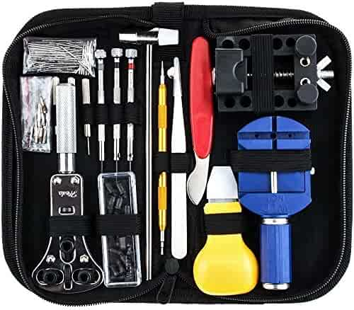 147 PCS Watch Band Link Pin Tool Set with Carrying Case,Watch Repair Kit Professional Spring Bar Tool Set-by Blinyang