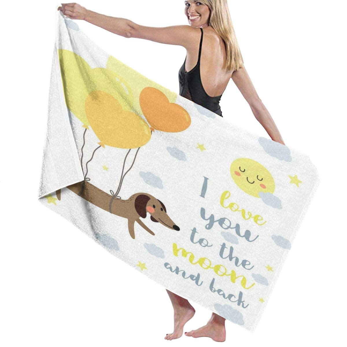 Doodle Scribble Drawings of Biscuit Sorts Dots and Strokes Details Dessert SweetQuick Dry Super Absorbent Lightweight Thin Novelty Bath Beach Towels 80 cm X 130 cm