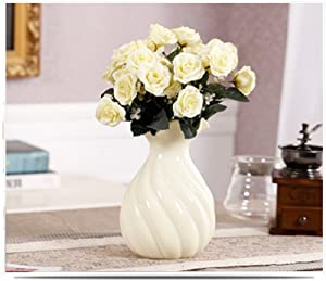 Modern Colored Porcelain Vase, Creamy For Centerpieces Christmas Birthday Wedding Party Gift Desktop Home Decor
