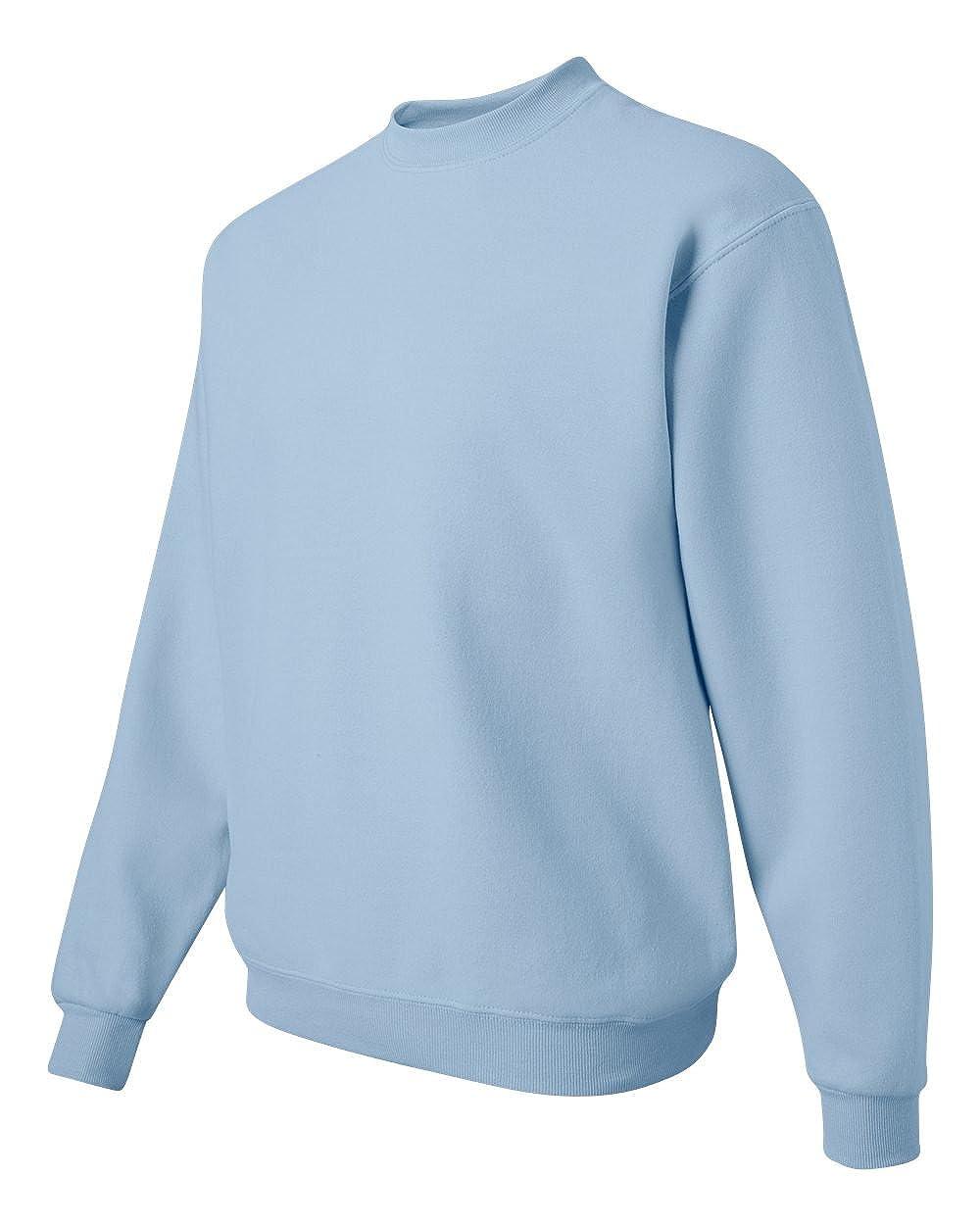 Jerzees mens 8 oz -LIGHT BLUE-S 50//50 NuBlend Fleece Crew 562