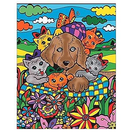 Colorvelvet L070 Cane E Gatti Disegno 47 X 35 Cm Amazon It