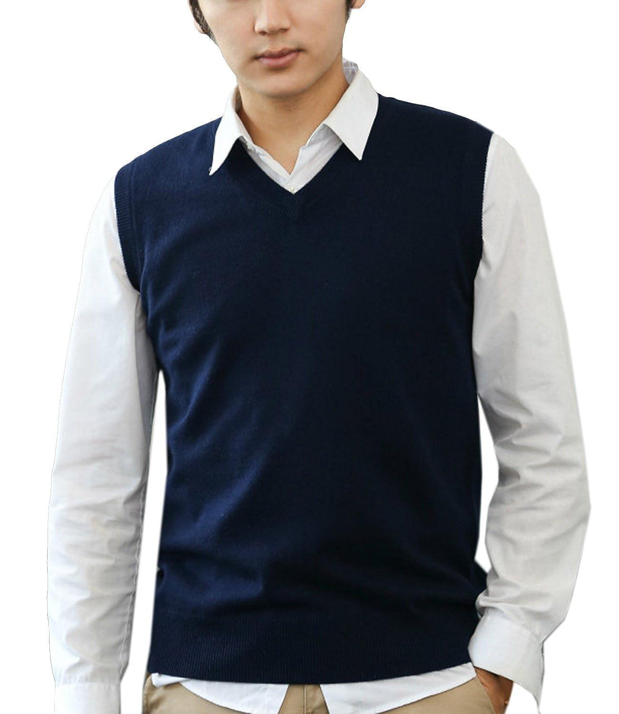 Nidicus Men Candy Color Classic Fit Lightweight Cool Dri Sweater Vest