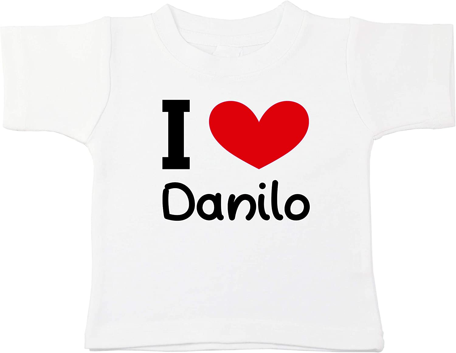 Kinacle I Love Danilo Personalized Baby//Toddler T-Shirt