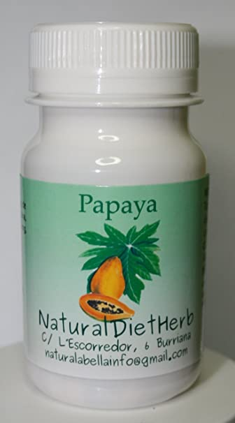 PAPAYA 100 COMPS / Papaina Bromelaina / Ayuda Digestiva Natural